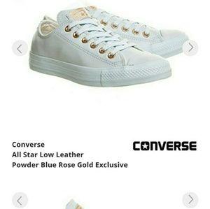a244f0054e77e0 Converse Shoes - Converse leather powder blue